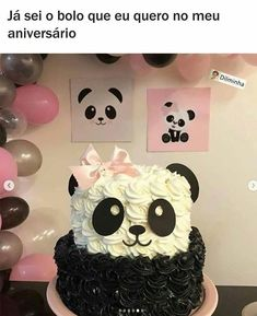 64 Ideas For Birthday Meme Kids Funny Birthday Surprise For Mom, Birthday Gifts For Brother, Boy Birthday Parties, Birthday Cupcakes, Birthday Balloons, Christmas Gift Quotes, Bolo Panda, Paletas Chocolate, Panda Birthday