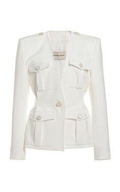 Crepe Single-Button Blazer by Alexandre Vauthier Blazer Outfits, Blazer Dress, Blazer Pattern, Looks Chic, Alexandre Vauthier, Tailored Jacket, Blazers For Women, Women Blazer, Blazer Jackets For Women