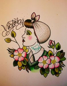 tattoos and artwork by Cassandra Frances: land girls. Dessin Old School, Maori Tattoo Designs, Finger Tats, Traditional Tattoo Flash, Tattoo Feminina, Different Tattoos, Flash Art, Wedding Tattoos, American Traditional