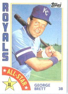 1984 Topps # 399 George Brett AS Kansas City Royals Baseball Card by Topps. $2.95. 1984 Topps #399 - George Brett AS