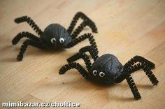 Pavouk ze skořápek od ořechů