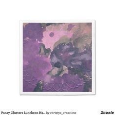 Pansy Clusters Luncheon Napkin Paper Napkins