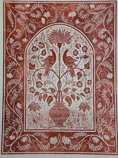 Limited edition print of woodcut by tricianewell on Etsy