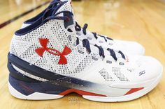 de62b38ae1b2 biz Stephen Curry wearing the  USA  Under Armour Curry Two 2. Regie Daly