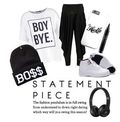 """#Statement T-Shirts"" by chocolate-thunda12 ❤ liked on Polyvore featuring Boohoo and MAC Cosmetics"