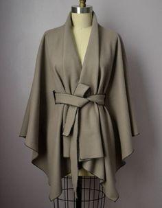 Wrap Tie Wool Cape by DanielaTabois on Etsy, $220.00