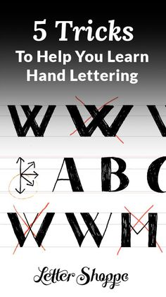 Hand lettering for beginners.