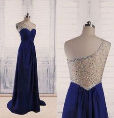 Charming Prom Dress,A-Line Prom Dress,Chiffon Prom Dress,One-Shoulder Prom Dress
