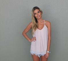 Miami Sun singlet - Shell Pink - Gingham and Heels - Bondi Markets