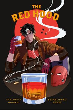 Red Whiskey Art Print by inkydandy - X-Small Batman Comic Art, Batman Comics, Batman Robin, Gotham Batman, Nightwing, Batgirl, Red Hood Jason Todd, Arte Dc Comics, Bat Boys