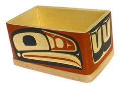 Raven Bentwood Box by British Columbia Canada First Nations artist Victor Michael West: http://www.ebay.ca/itm/111366540307?ssPageName=STRK:MESELX:IT&_trksid=p3984.m1558.l2649