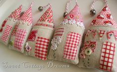 Cute fabric houses!