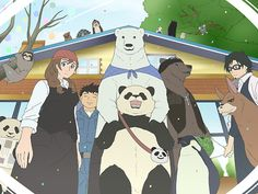 Shirokuma Cafe, Polar bear Cafe Polar Bear Cafe, Polar Bears, Panda Art, Main Theme, We Bare Bears, Comic Movies, Weird And Wonderful, Illustrations And Posters, Cute Guys
