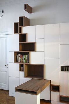 Modern Furniture Design 68875 Modern Storage Unit Features Stylized Shelving Mimicking a Crack in the Earth's Surface - My Modern Met Modern Furniture, Home Furniture, Furniture Design, Furniture Plans, Outdoor Furniture, Interior Architecture, Interior Design, Regal Design, Wooden Drawers