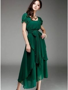 Exquisite Round Neck Blended Pure Maxi-dress Maxi Dresses from fashionmia.com