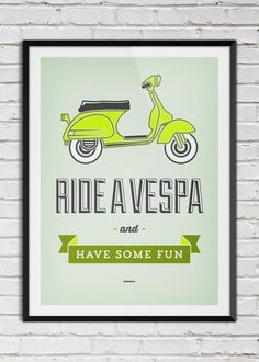 Plakat Ride a Vespa