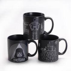 Black & White Star Wars Mugs //Price: $27.99 & FREE Shipping //     #starwars #starwarsnerd #starwarsgeek #jedicrazy #jedi #maytheforcebewithyou