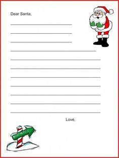 Letterina di Natale da stampare Babbo Natale