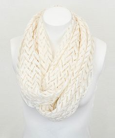 Ivory Zigzag Lace Infinity Scarf | something special every day