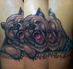 Bear Tattoo by Javier Franco