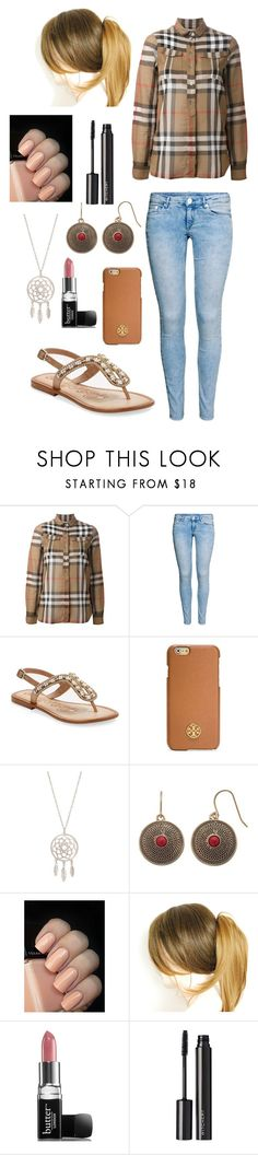 """""""#32"""" by bielkrom ❤ liked on Polyvore featuring Burberry, H&M, Naughty Monkey, Tory Burch, Chaps, Butter London and Witchery"""