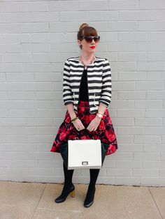 Jacket: Crown & Ivy/Belk Skirt: NY & Co Bag: Kate Spade NY Heels: Kate Spade NY
