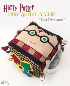 DIY BugabooCity Harry Potter Fabric Baby Activity Cube