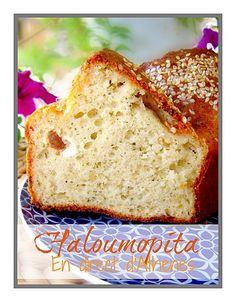 Χαλουμόπιτα-Haloumopita - Salty cake with cypriot cheese, something like flaounes-φλαούνες