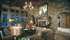 Eldorado Stone - Imagine - Inspiration Gallery - Residential - Living Rooms....beautiful
