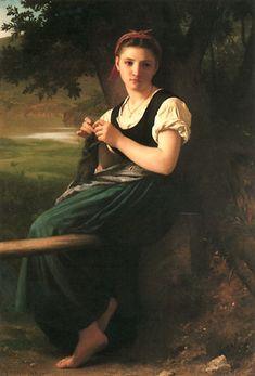 William-Adolphe Bouguereau   'The Knitting Girl'