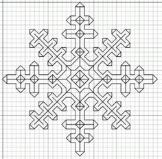 Blackwork is a fun counted-thread embroidery style that is easy to learn and can be done using any evenweave fabric and embroidery thread. Imaginesque is a great source of free blackwork charts and… Motifs Blackwork, Blackwork Cross Stitch, Blackwork Embroidery, Folk Embroidery, Paper Embroidery, Cross Stitching, Cross Stitch Embroidery, Embroidery Patterns, Doily Patterns