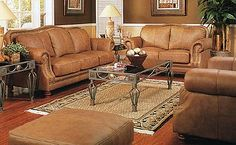 Maybe leather in my living room! Room Furniture Design, Living Room Furniture, Home Furniture, Furniture Ideas, Living Room Paint, My Living Room, Leather Furniture, Leather Sofa, Living Room Decor Country