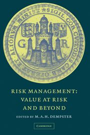 MAH Dempster (ed.), Risk Management