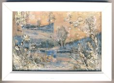 MIXED MEDIA PICTURE 3D SHADOW BOX WINTER SCENE | eBay