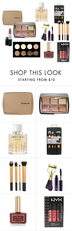 """""""Beauty Lovers' Gift Guide"""" by cb53499p on Polyvore featuring beauty, Hourglass Cosmetics, Jimmy Choo, tarte, Ciaté and NYX"""