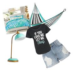 """""""Beach day"""" by freenank ❤ liked on Polyvore featuring PBteen, Yellow Leaf Hammocks, Frame and LC Trendz"""