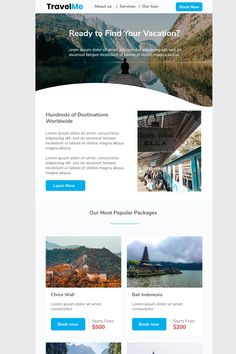 Travel Me is a email marketing template allow you to promote the travel agency or travel storeMultipurpose templatesResponsive templatesMajor browser Newsletter Templates Word, Newsletter Design, Email Templates, Student Business Cards, Email Template Design, Email Design, Indesign Magazine Templates, Best Templates, Wedding Humor