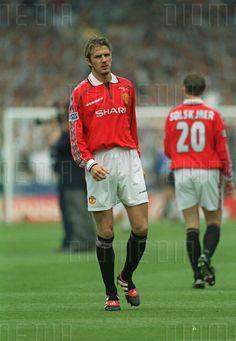 Man Utd ace David Beckham before the 1999 FA Cup Final at Wembley.
