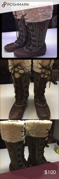 Ugg Edmonton boots size 7.5 Size 7.5, fit a size 8, Edmonton UGG winter boots. Worn only a handful of times. Soft, cozy, and in perfect condition. Great detailing. Price firm. UGG Shoes Lace Up Boots