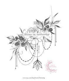 Lotus Tattoo Design, Tattoo Designs, Vine Tattoos, Flower Tattoos, Sleeve Tattoos, Hip Tattoos Women, Chest Tattoos For Women, Original Tattoos, Rosa Mandala