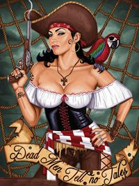 Pirate Pin Up Girl | Pinup pirates also make for great pirate tattoos. The female pirates ...