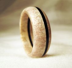 Hey, I found this really awesome Etsy listing at https://www.etsy.com/listing/107645645/deer-antler-ring-bone-ring-with-black