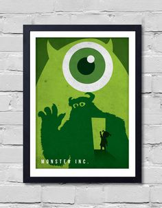 Walt Disney Pixar Monster.inc. Poster by POSTERSHOT on Etsy