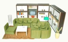 dollhouse furniture | Bodo Hennig dollhouse furniture (1970s)