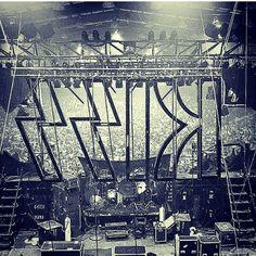 Backstage view. Destroyer tour, 1976.