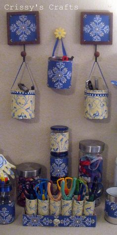 Crissy's Crafts: Recycle - TP pencil/scissors holders