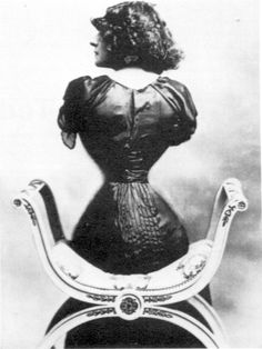"""In the late 19th century, """"tightlacing"""" among women was in vogue. Émilie Marie Bouchaud (stage name Polaire) was famous for her tiny, corsetted waist, which was reported to have a circumference no greater than 16 inches."""