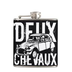 #Deux Chevaux 2CV Hip Flask - #drinkware #cool #special