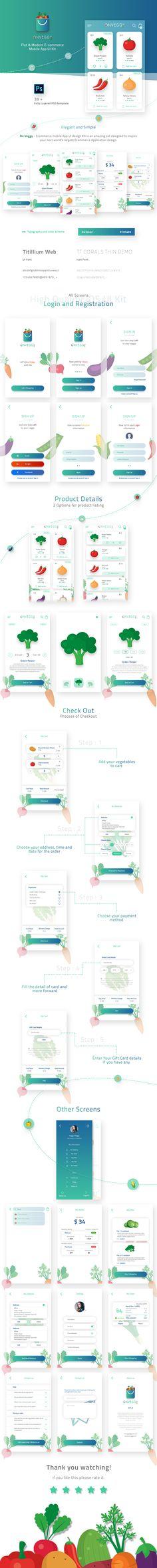 On Veggy - Multipurpose E-commerce App UI Kit on Behance