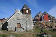Uummannaq, church and school